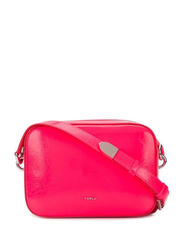 Furla Block Mini Cross-body Bag In Pink