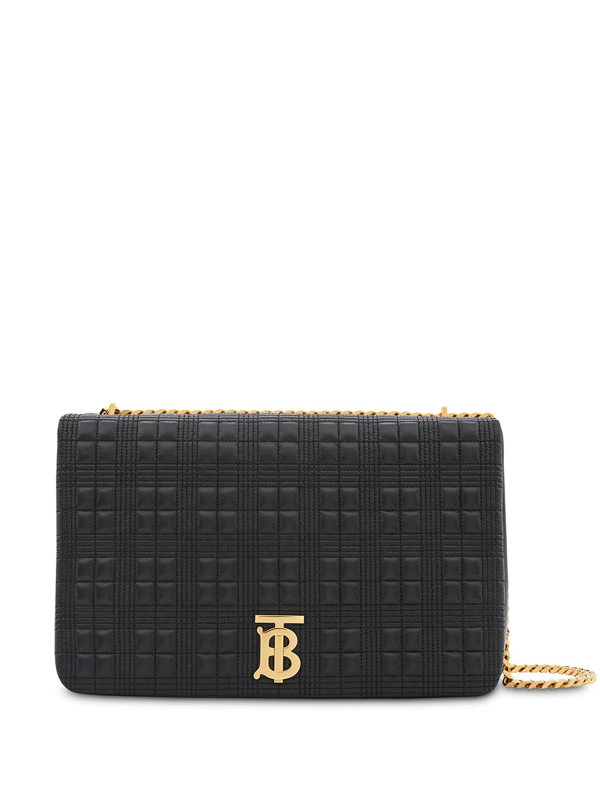 Burberry Xl Lola Extra Large Quilted Lambskin Lola Bag In Black