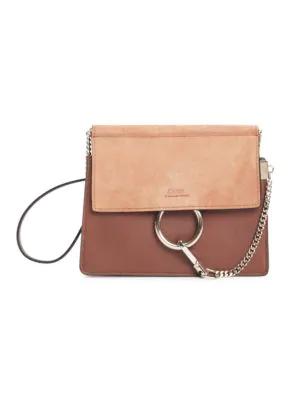 Chloé Women's Faye Leather & Suede Shoulder Bag In Rose Gold