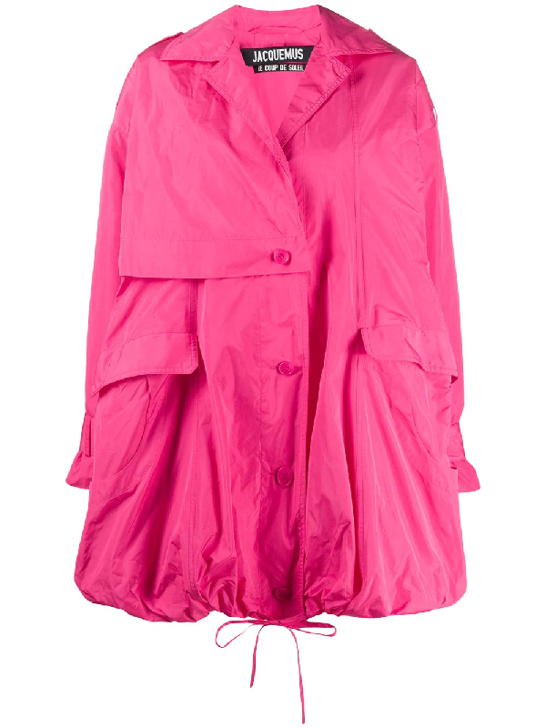 Jacquemus La Parka Ouro Trench Waterproof In Pink