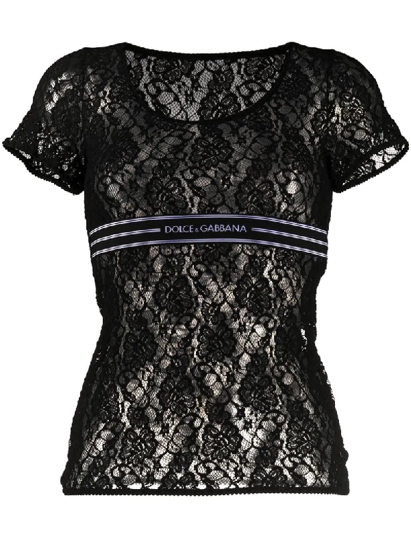 Dolce & Gabbana Dolce And Gabbana Black Lace Band T-shirt