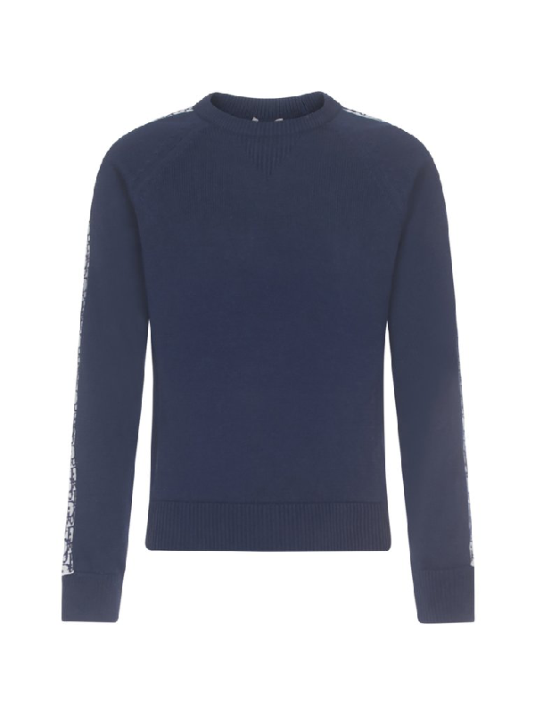 Dior Homme Crewneck Sweatshirt In Blue