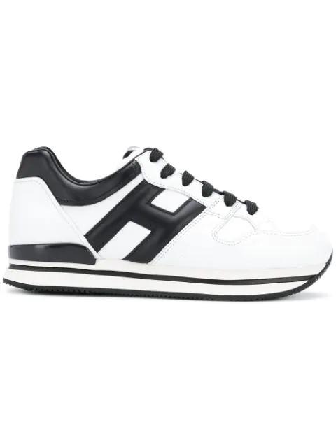 Hogan 50mm H222 Active Leather Sneakers In Black
