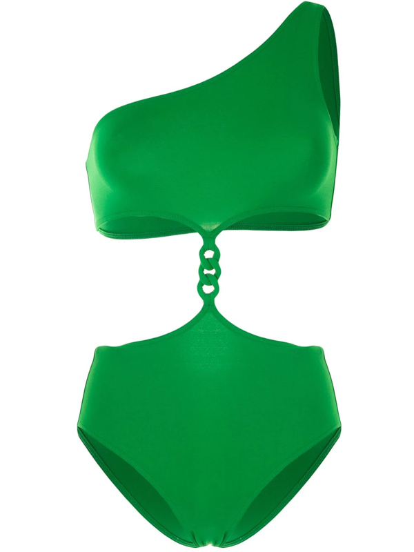 Eres Gourmette Medaille Cutout Braided Swimsuit In Green