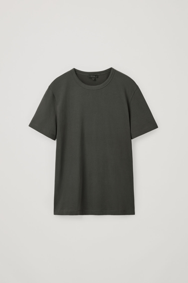 Cos Straight-fit T-shirt In Grey
