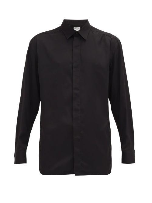 Bottega Veneta Oversized Poplin Shirt In Black