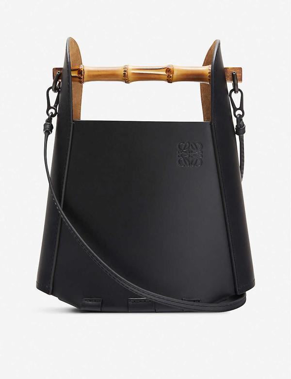 Loewe Bamboo And Leather Bucket Bag