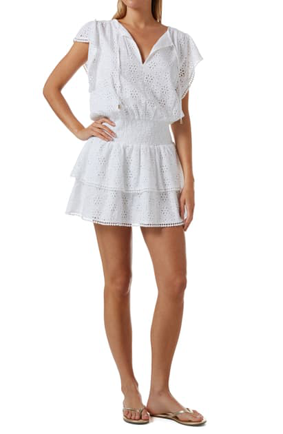 Melissa Odabash Bandeau Mia Mini Dress In White