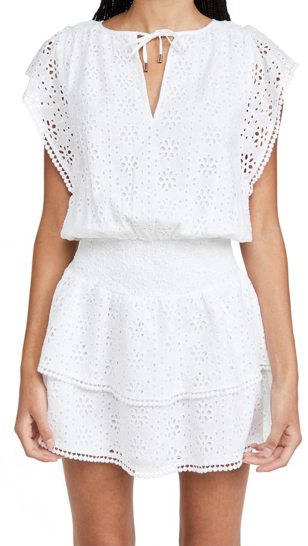 Melissa Odabash Keri Eyelet Cover-up Dress In White