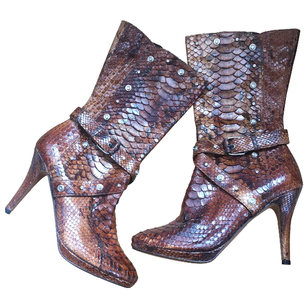 Luis Onofre Brown Patent Leather Boots