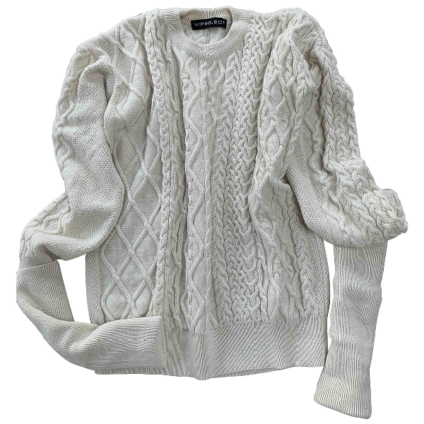 Y/project Ecru Wool Knitwear