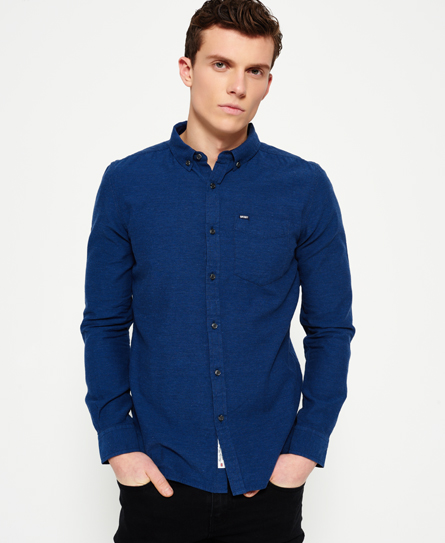 Superdry Shoreditch Button Down Shirt In Navy