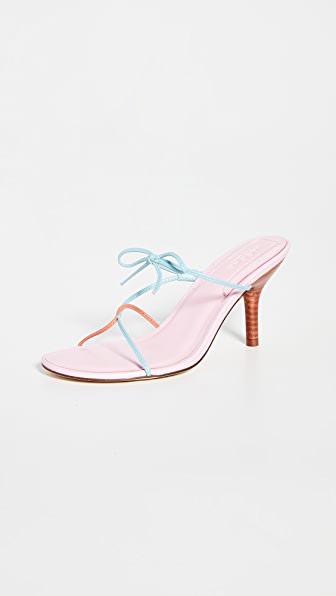 Jaggar String Sandals In Sea Pink Multi