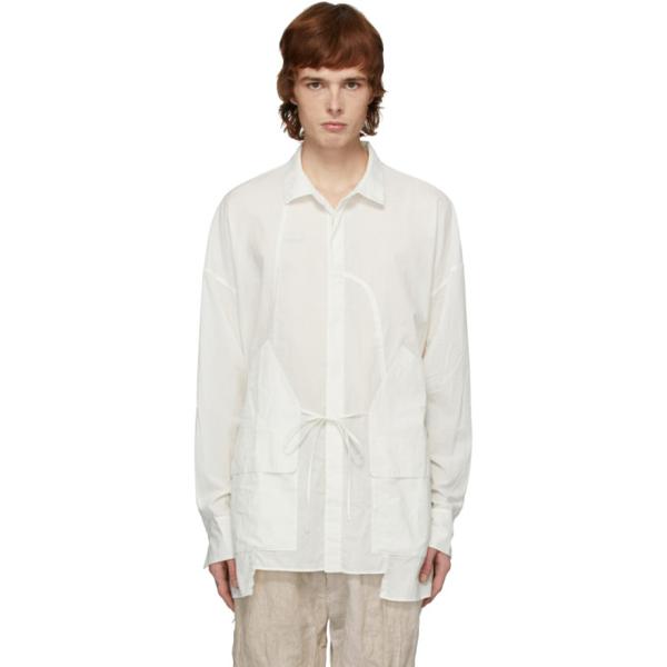 Ziggy Chen White Pocket Overshirt Jacket