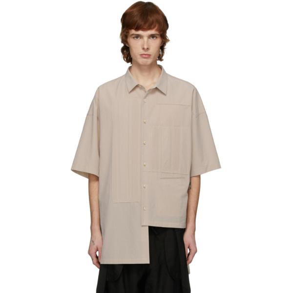 Ziggy Chen Off-white Cotton Short Sleeve Shirt In 03 Offwht