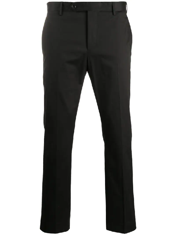 Pt01 Slim-fit Tailored Trousers In Black