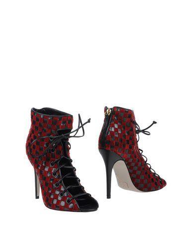 Daniele Michetti Ankle Boots In Maroon