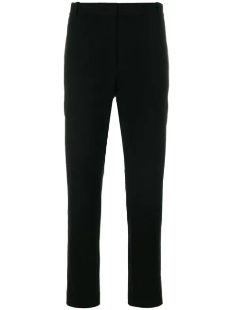 Joseph Coleman Stretch Cotton Tailored Trousers In Black