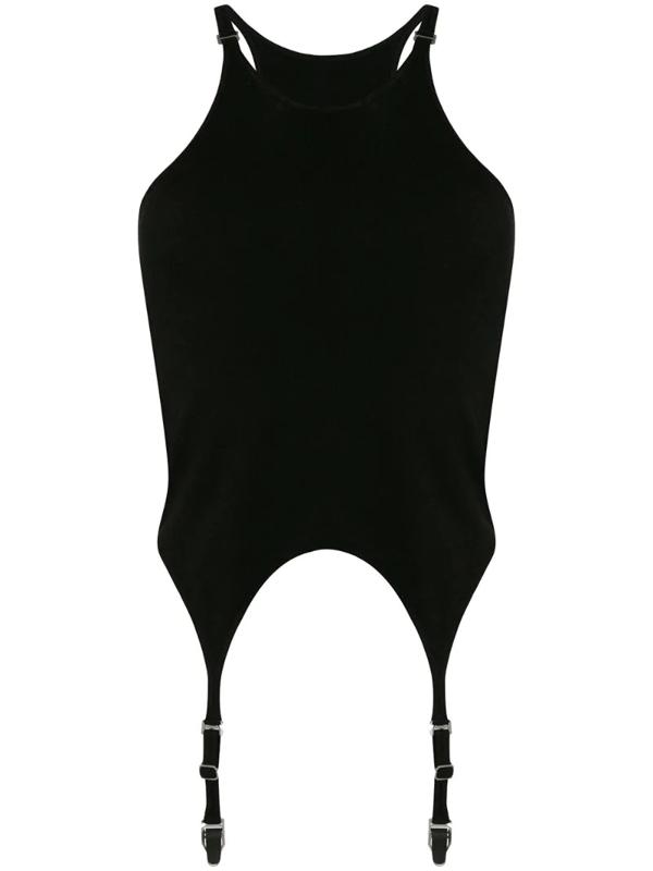 Dion Lee Garter Black Stretch-jersey Top