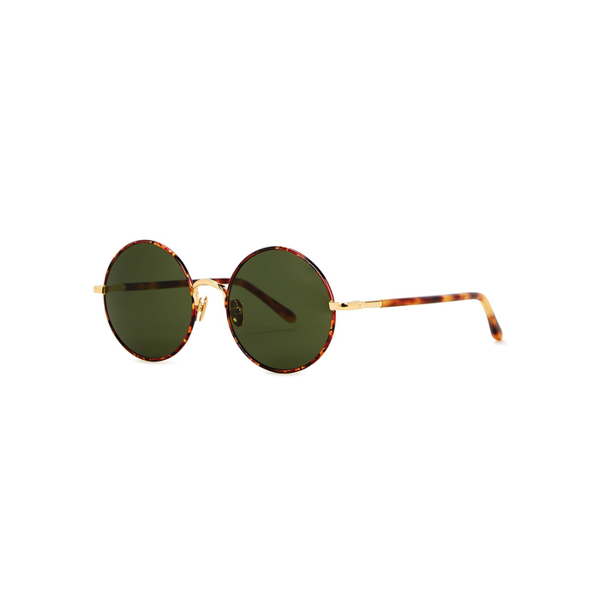 Linda Farrow Luxe Welch Tortoiseshell Round-frame Sunglasses