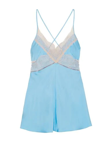 Victoria Beckham Lace-trimmed Satin Camisole In Sky Blue