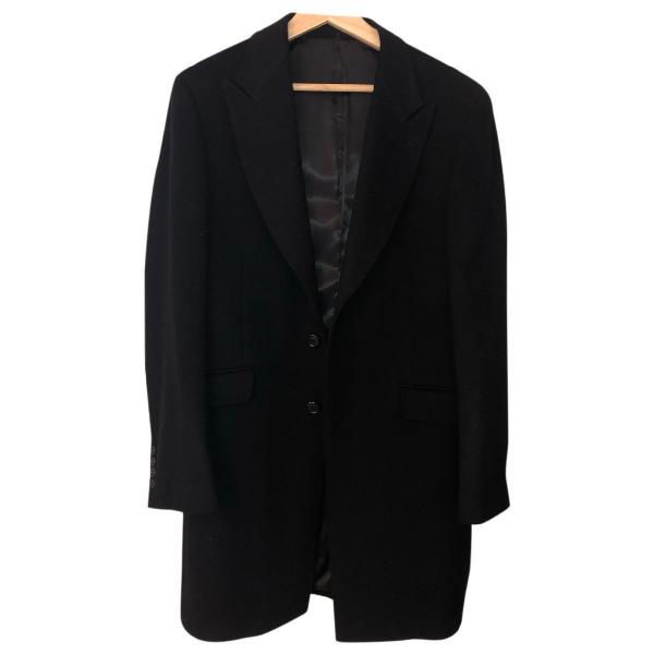 Mugler Black Wool Coat
