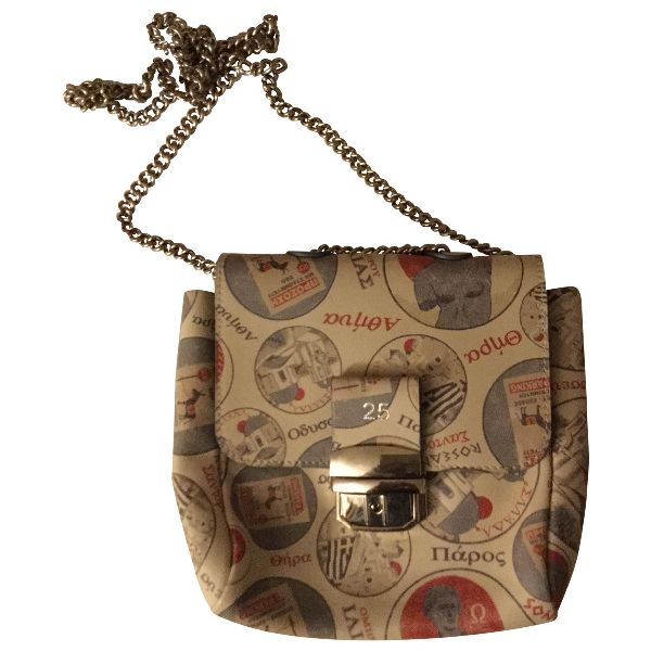 Roseanna Beige Leather Handbag