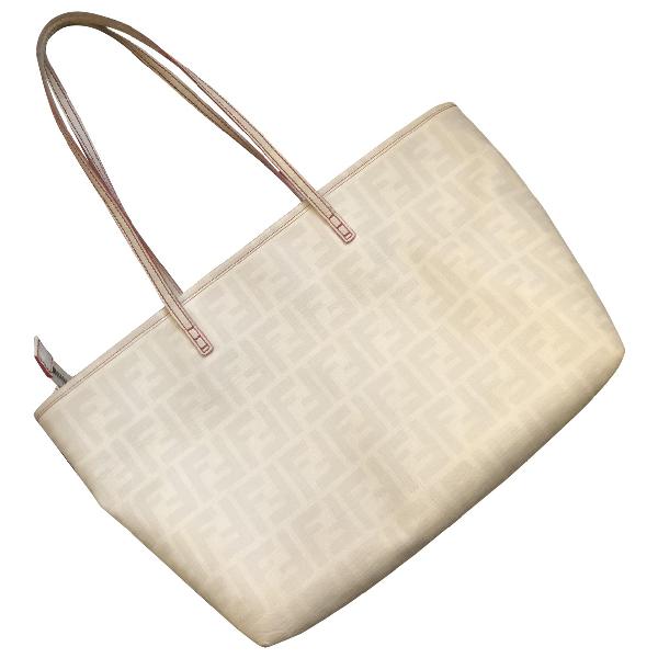 Fendi Roll Bag  Beige Cloth Handbag