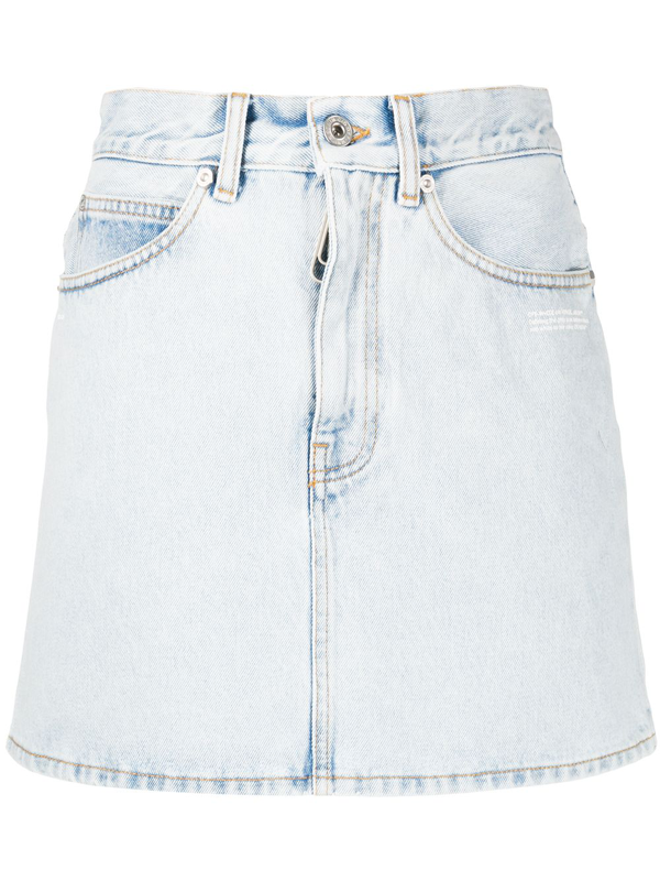 Off-white Denim Mini Skirt In Light Blue