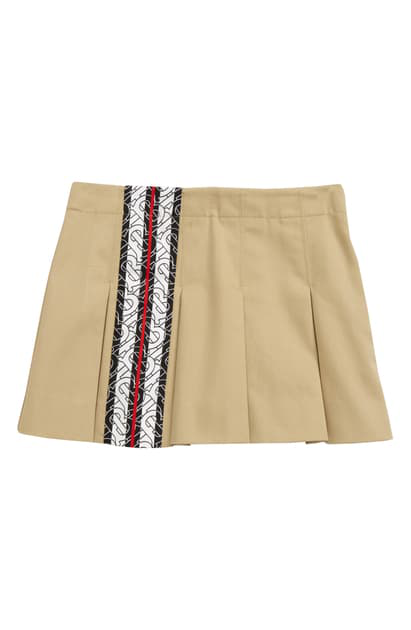 Burberry Kids' Georgia Pleated Skirt In Honey