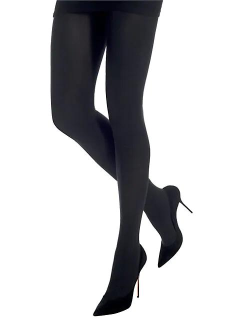 Emilio Cavallini Microfiber 3d Tights In Black