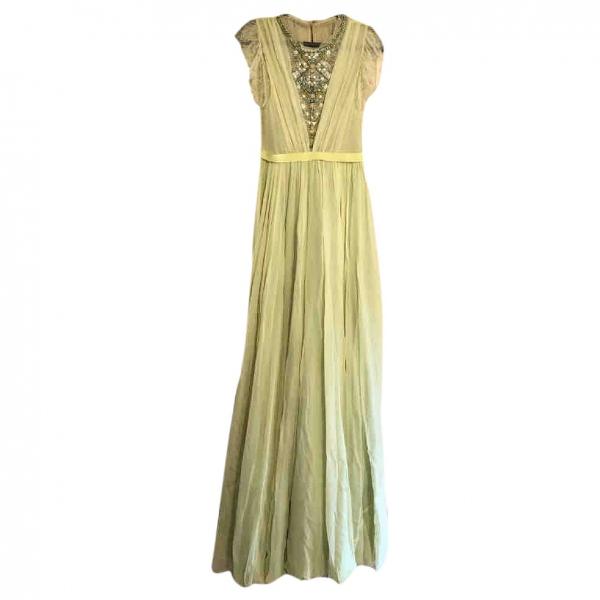 Jenny Packham Green Lace Dress
