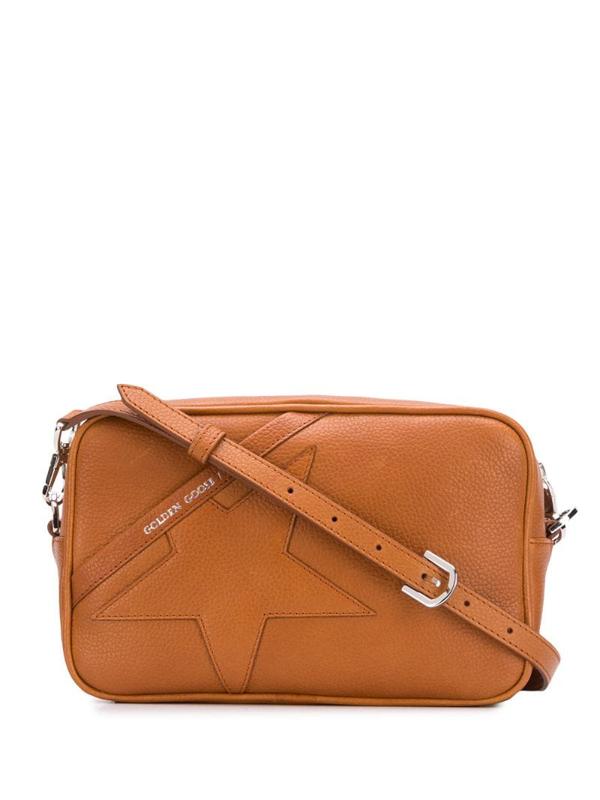 Golden Goose Star Leather Shoulder Bag In Brown