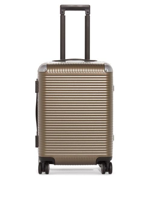 Fabbrica Pelletterie Milano Bank Light Spinner 53 Trunk Suitcase In Brown