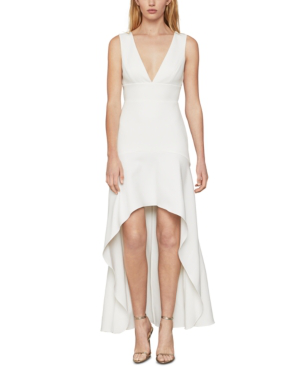 Bcbgmaxazria Eve High-low Dress In Off White