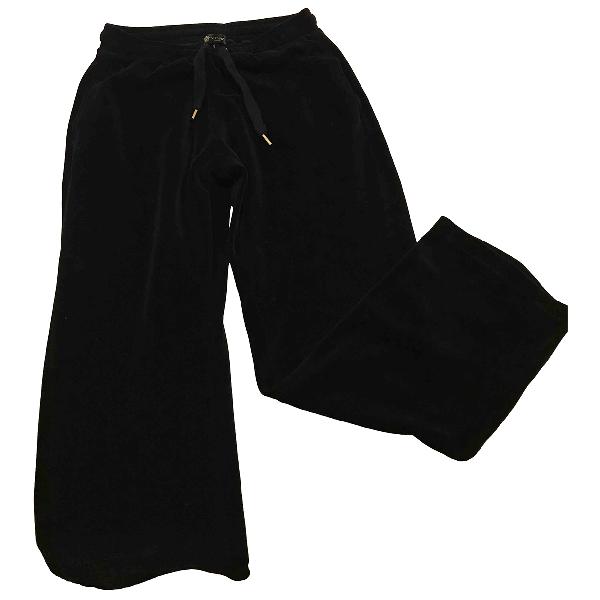 Versace Black Velvet Trousers