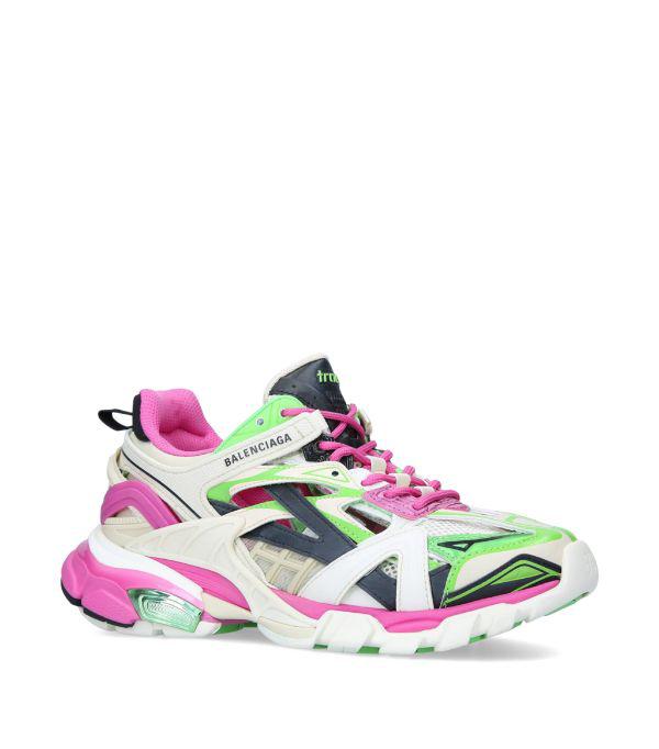 Balenciaga 60mm Track 2.0 Nylon Blend Sneakers In White