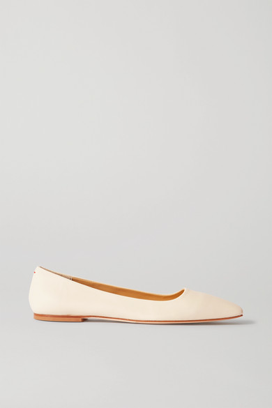 Aeyde Gina Square-toe Ballerina Shoes In White