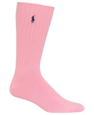 Polo Ralph Lauren Men's Stretch Cotton Socks In Pink