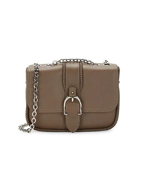 Longchamp Amazone Leather Crossbody Bag In Olive