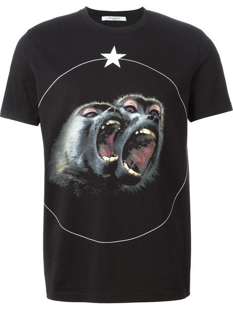 501f18ed950 Givenchy Monkey Brothers Cuban-Fit Printed Cotton-Jersey T-Shirt In Black