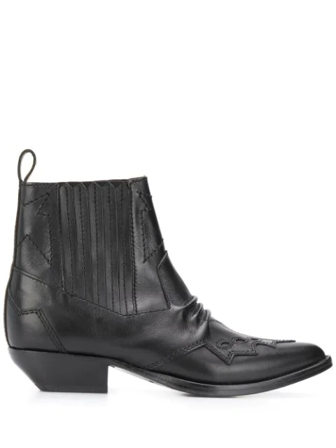 Roseanna Tucson Leather Boots In Black