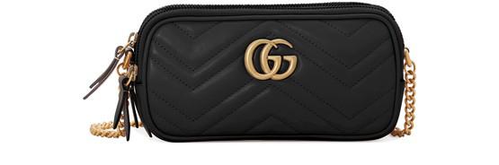 Gucci Gg Marmont Mini Crossbody Bag In Black