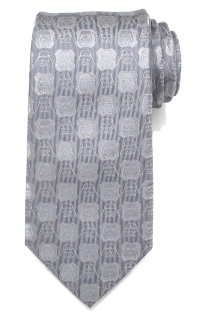Cufflinks, Inc Star Wars(tm) Darth Vader Medallion Silk Tie In Gray