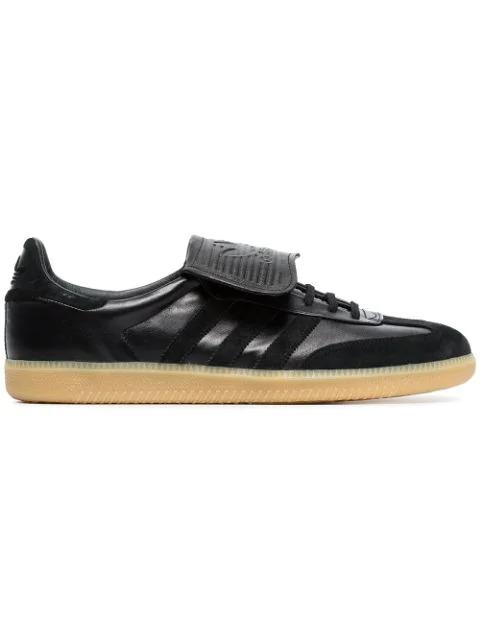 Adidas Originals Black Samba Recon Lt Leather Sneakers
