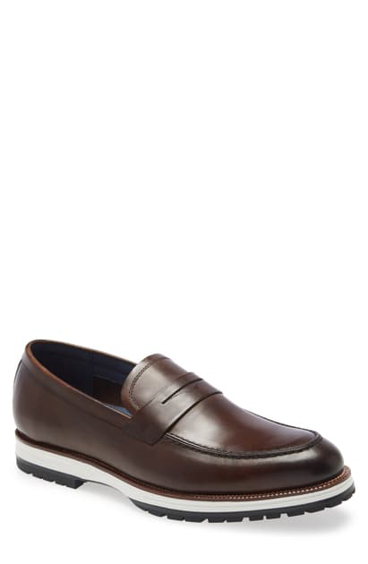 Ike Behar Represent Penny Loafer In Brown