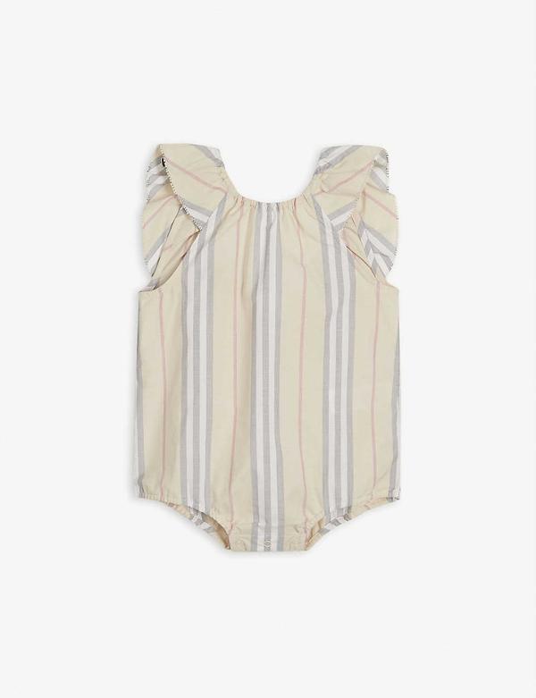 Burberry Babies' Kids Icon Stripe Bodysuit (1-18 Months)