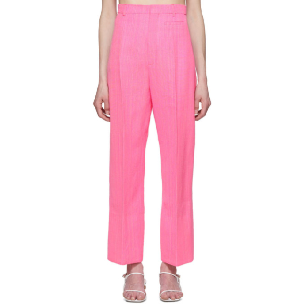 Jacquemus Le Pantalon Santon High-rise Pants In Pink