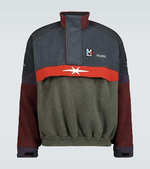 Phipps Fleece Oversized Sweatshirt In Multicoloured