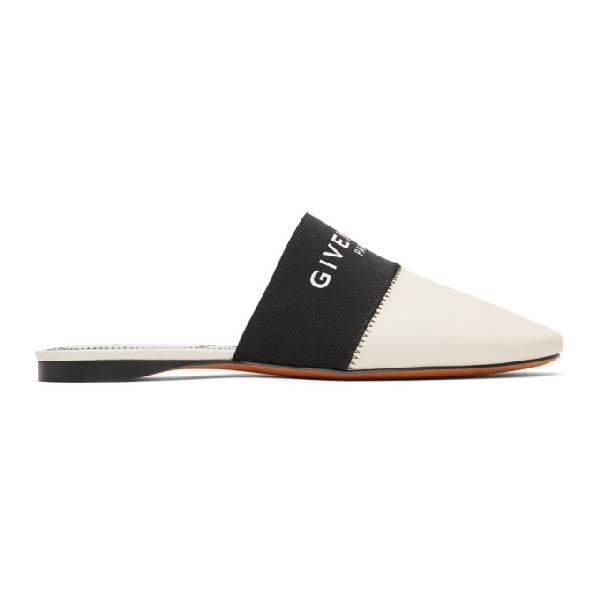 Givenchy Bedford Flat Mu Loafers In Beige Leather In 250 Beige
